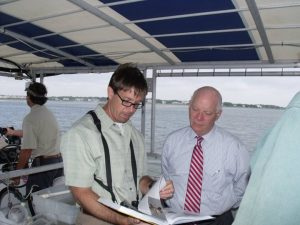 Dave talks about colonial nesting birds with US Senator Ben Cardin (MD)
